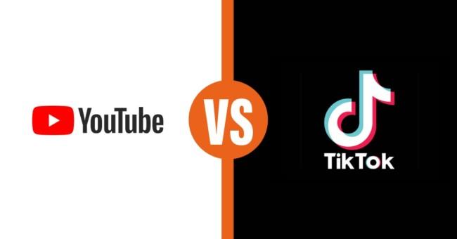 youtube vs TikTok t anteprima link